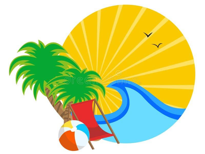 Летнии отпуска иллюстрация вектора