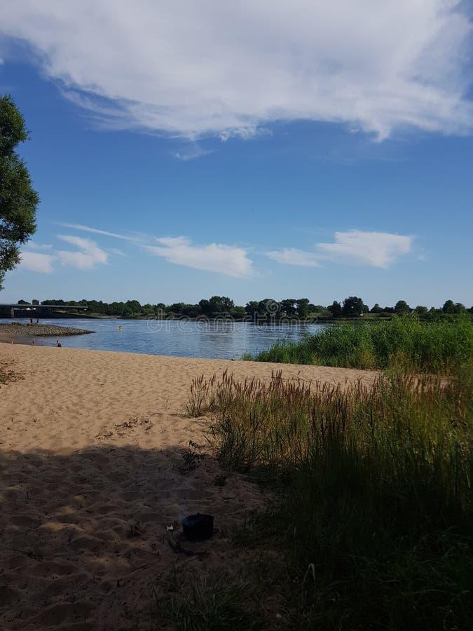 Летний день на пляже стоковое изображение