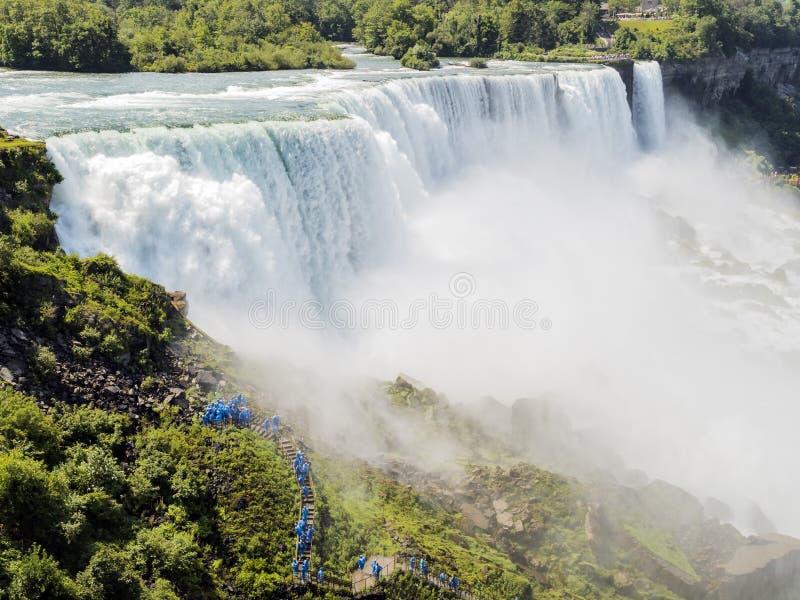 Летний день Ниагарского Водопада - Нью-Йорк стоковые изображения rf