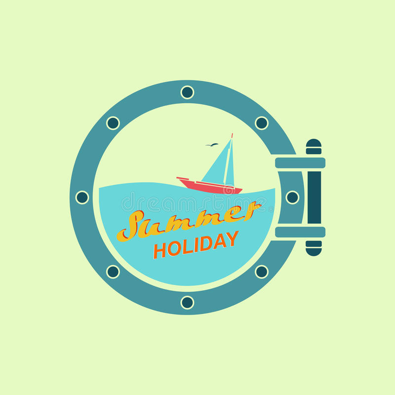 Летний отпуск на яхте бесплатная иллюстрация