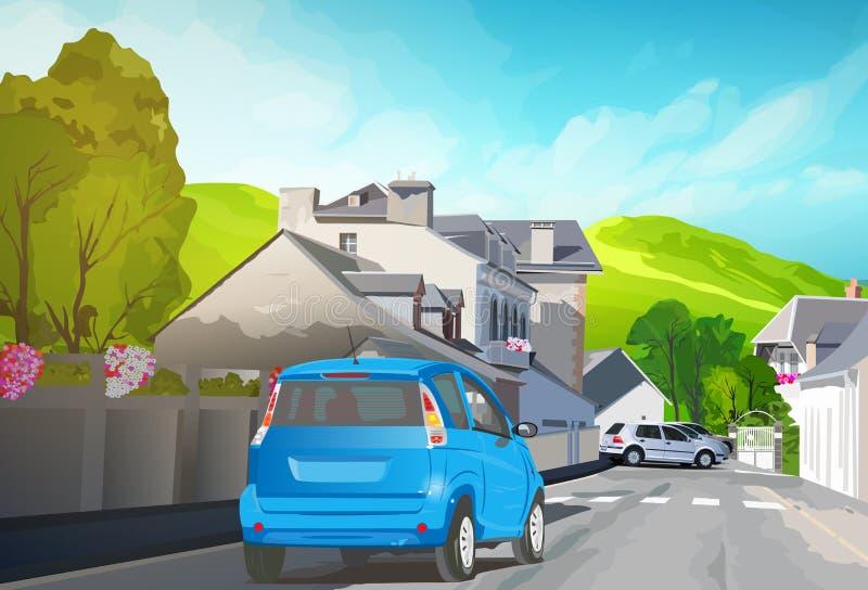 Лето автомобильного путешествия бесплатная иллюстрация