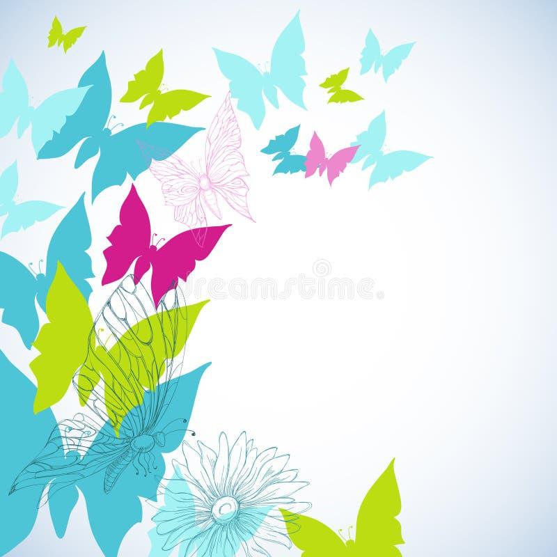 лето бабочек иллюстрация вектора