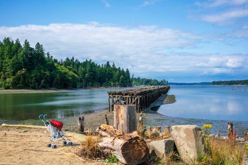 Лето вдоль Олимпии Вашингтона звука Puget залива Чэпмена стоковая фотография