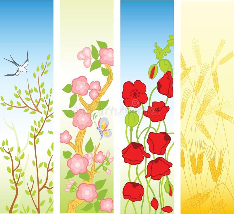 лето весны знамен иллюстрация штока