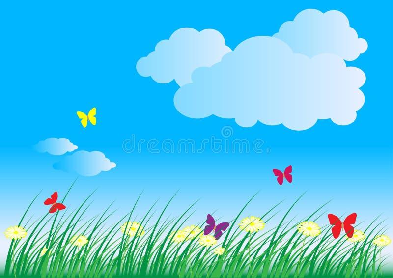 лето весны природы предпосылки иллюстрация штока