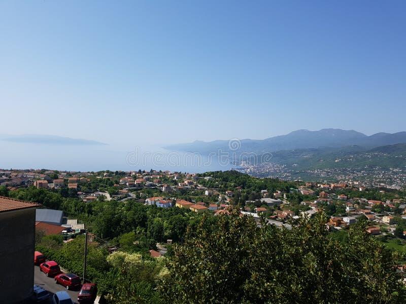 Лето взгляда Хорватии Риеки стоковые изображения