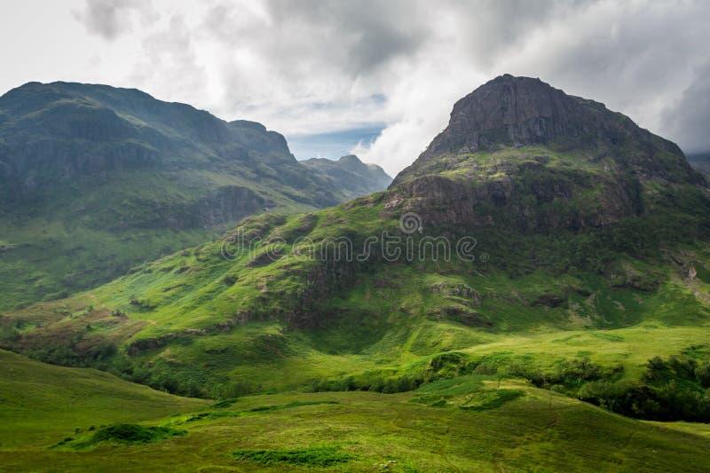 Лето внутри в гористых местностях Шотландии стоковая фотография