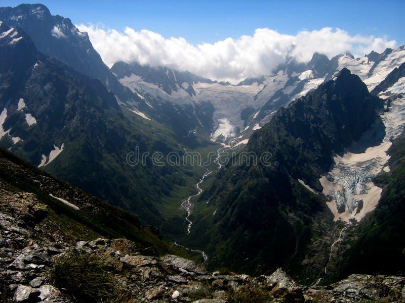 Лето в горах Кавказ, Россия стоковая фотография rf