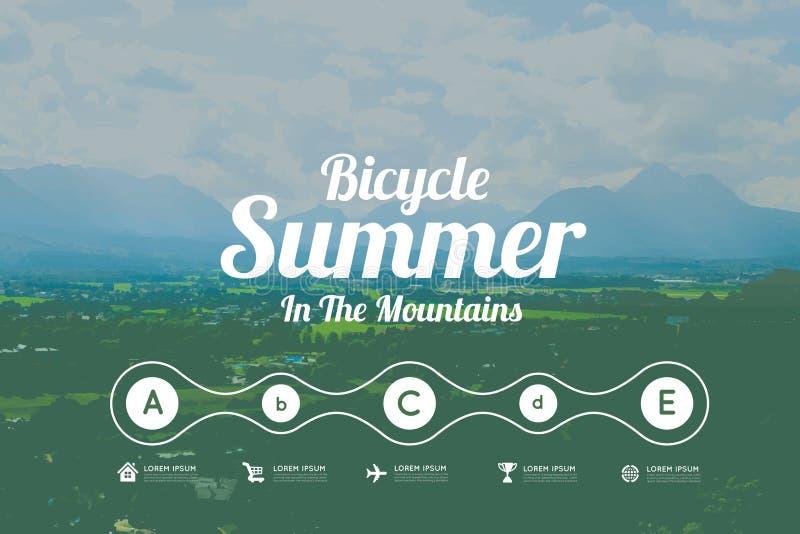 Лето в горах бесплатная иллюстрация