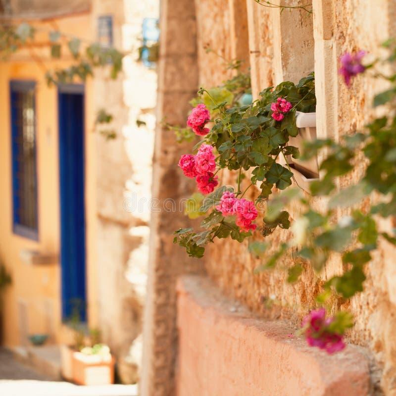 Лето в Греции Крите, городке Chania старом стоковые изображения