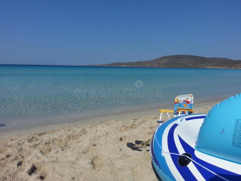 Лето в пляже кристаллических вод стоковое изображение