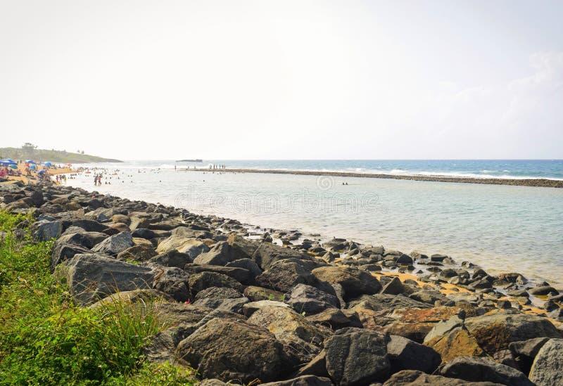 Лето в пляже, Пуэрто-Рико стоковая фотография