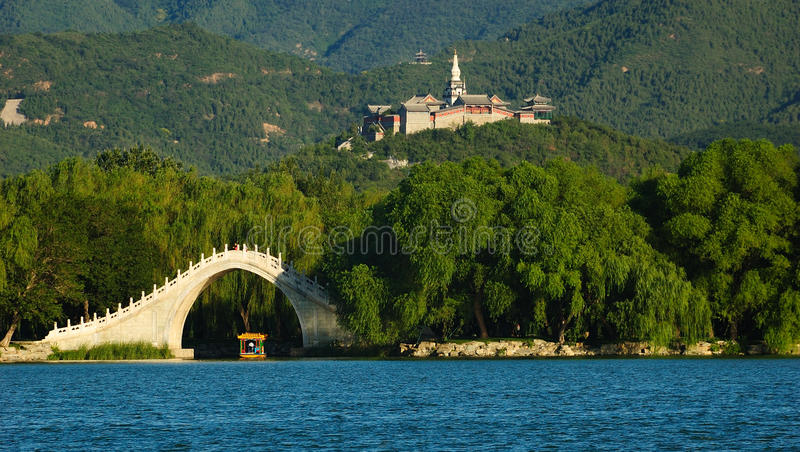 лето дворца фарфора Пекин стоковые изображения rf