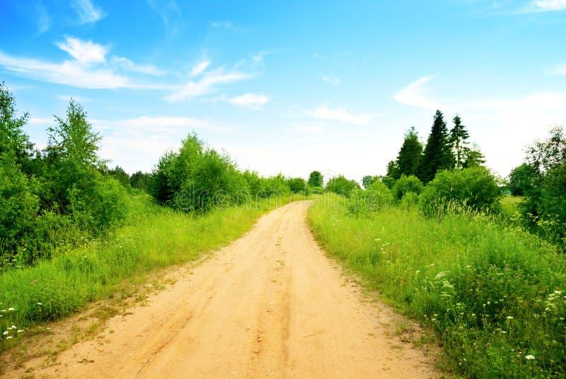 лето дороги дня совершенное стоковая фотография