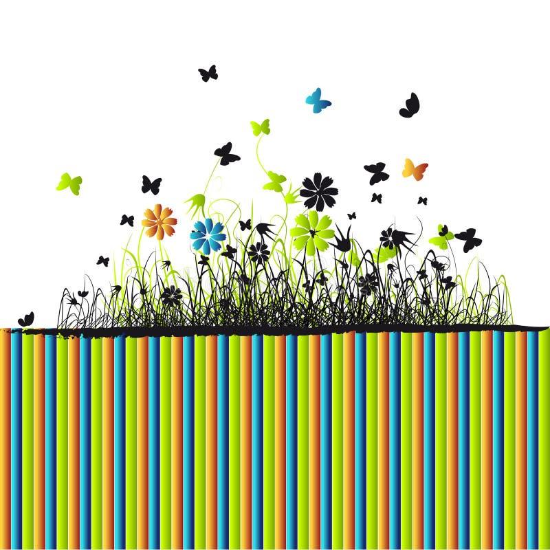 лето зеленого цвета травы предпосылки иллюстрация вектора