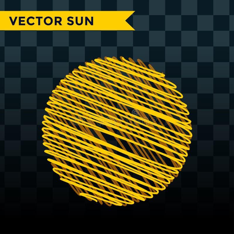 Лето иллюстрации вектора значка звезды взрыва Солнця изолировало символ знака восхода солнца искры солнечного луча солнечного све иллюстрация штока