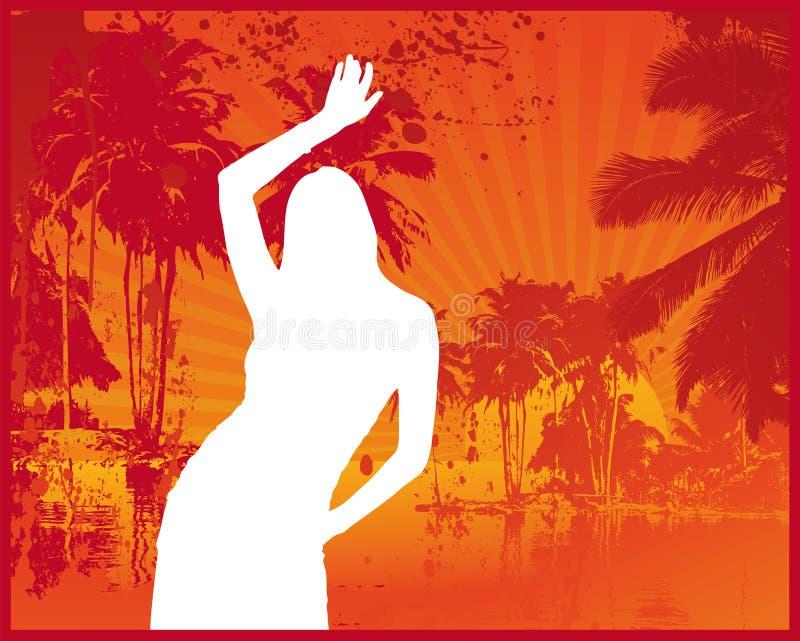 лето клуба пляжа иллюстрация штока