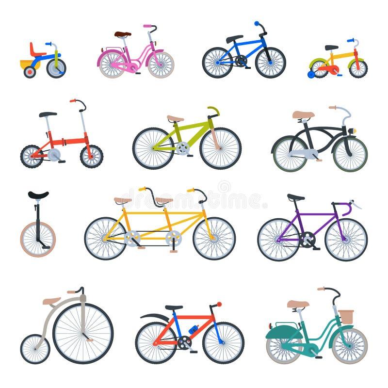 Лето корабля езды перехода вектора ретро стиля велосипеда винтажного старое bicycles иллюстрация транспорта бесплатная иллюстрация