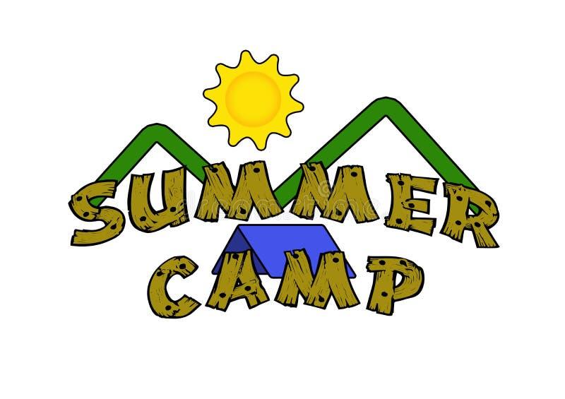 лето лагеря иллюстрация вектора
