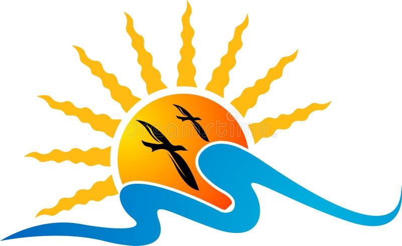 лето логоса иллюстрация вектора