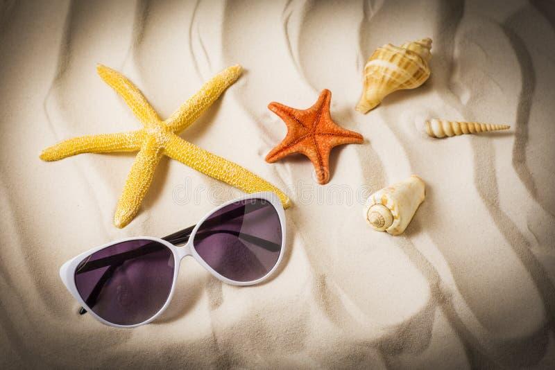 Лето, морская звёзда на песке стоковое изображение