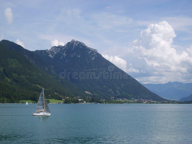 Лето на озере в Австрии стоковая фотография rf