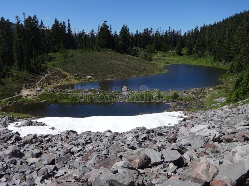 Лето на озере Mazama стоковая фотография