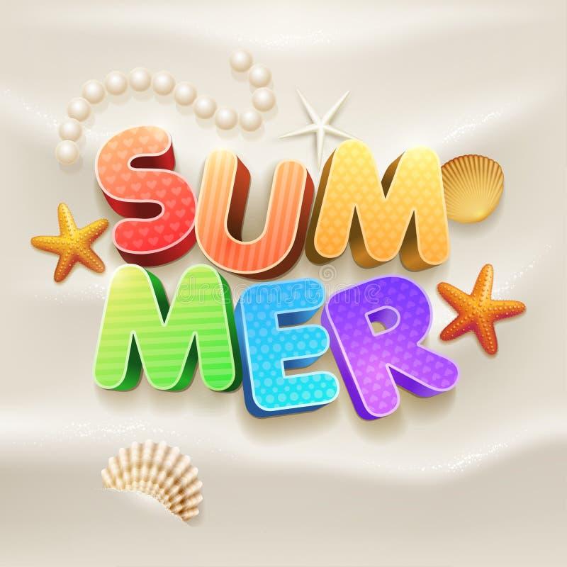 Лето на пляже бесплатная иллюстрация