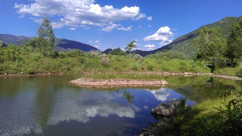 Лето озера гор стоковое фото