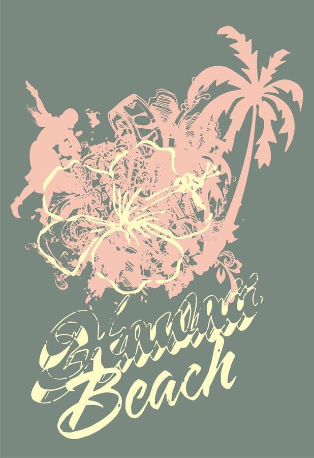 лето пляжа бесплатная иллюстрация