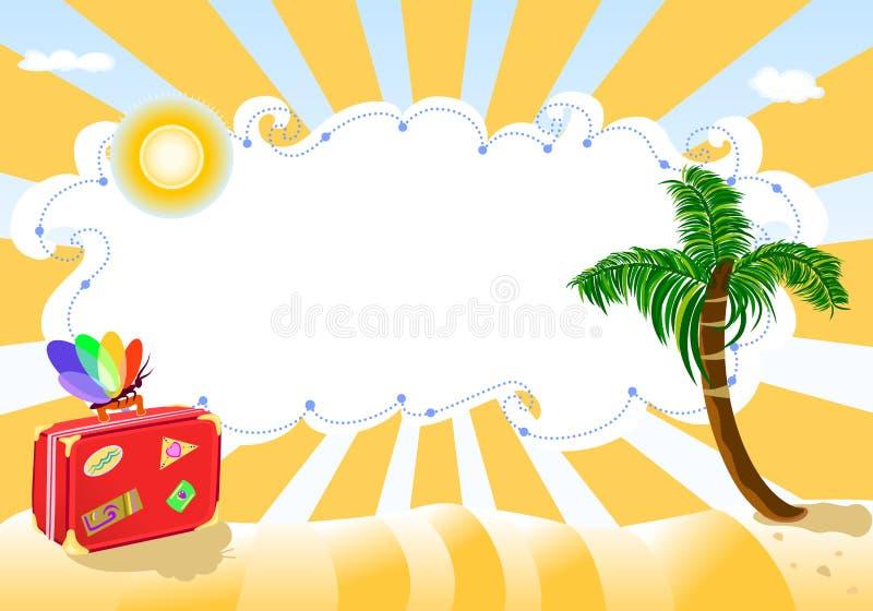 лето праздников пляжа экзотическое, котор нужно переместить иллюстрация вектора