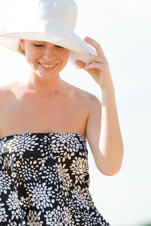лето предпосылки красивейшее кавказское модельное стоковое фото rf