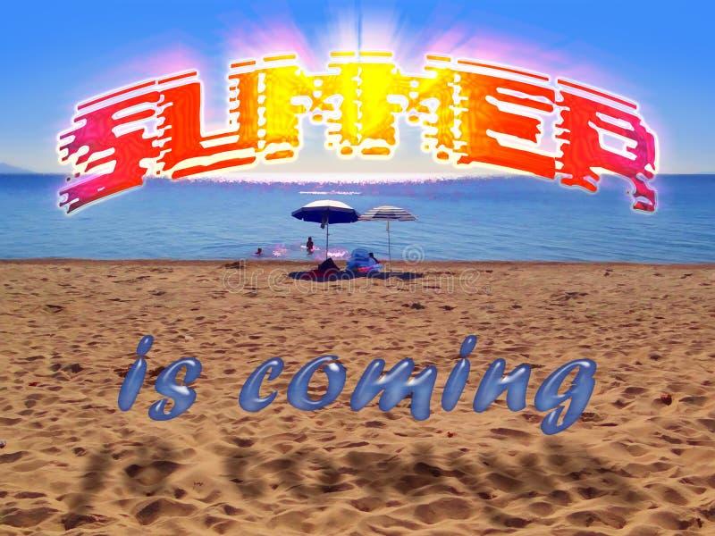 Лето приходит стоковые изображения rf