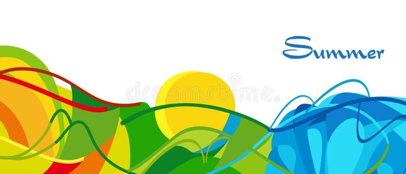 Лето 2016 Рио Бразилии иллюстрация вектора