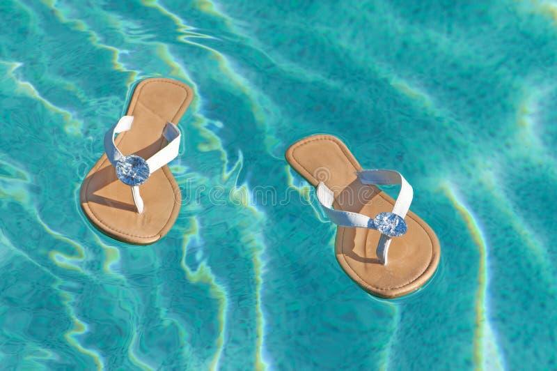 лето сандалий стоковые изображения rf