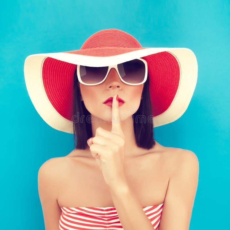 лето секрета девушки стоковые изображения rf
