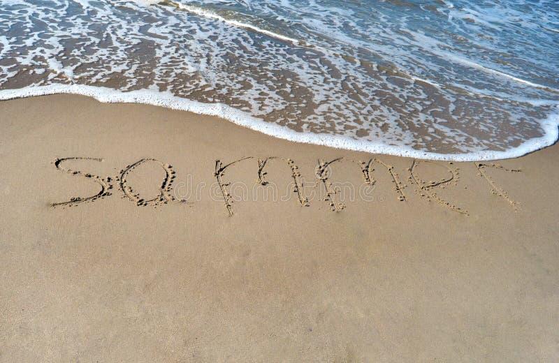 Лето слова стоковое фото rf