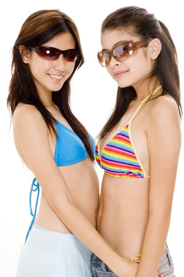 лето 5 девушок стоковое изображение rf