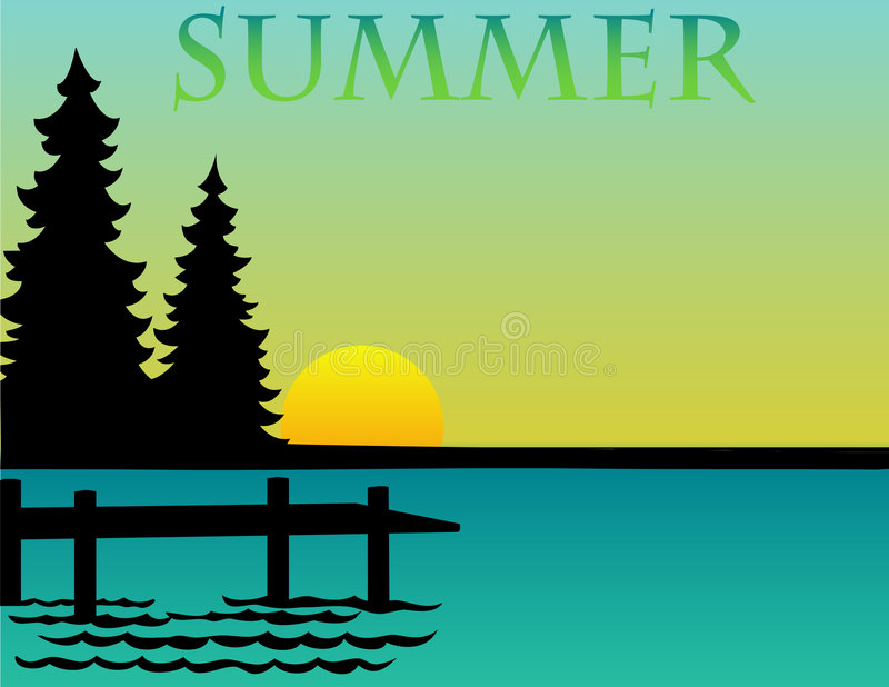 лето eps предпосылки бесплатная иллюстрация