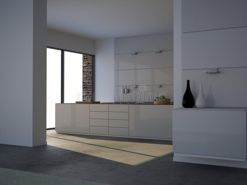 лето minimalist кухни стоковая фотография