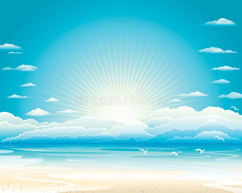 лето seascape бесплатная иллюстрация