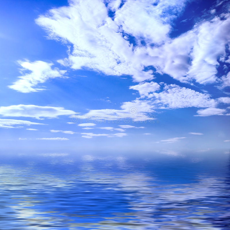 лето seascape стоковое фото
