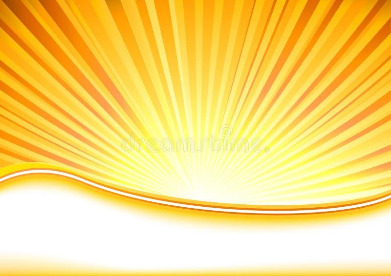 лето shine знамени полное иллюстрация вектора