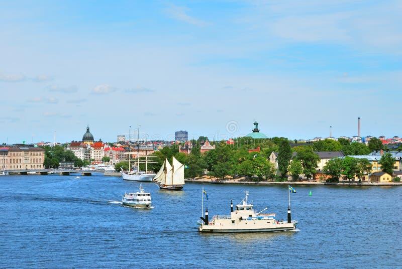 лето stockholm дня солнечное стоковое фото