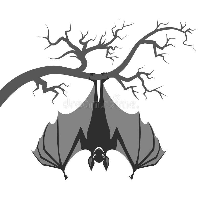 стала рисунок летучих мышей на дереве вверх ногами этот