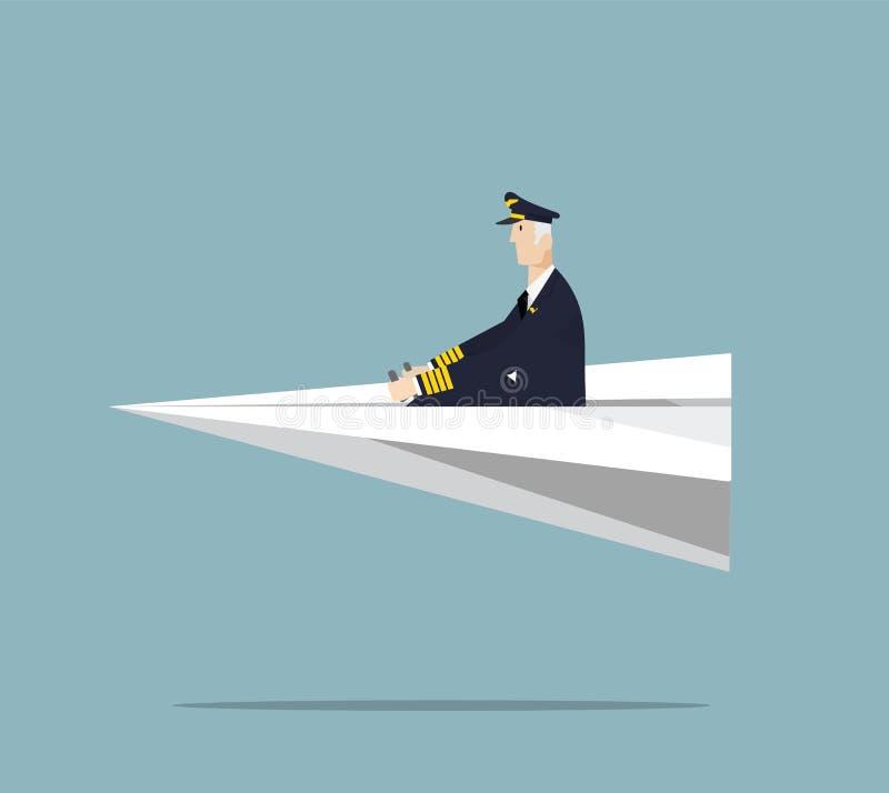 Летчик авиалинии бесплатная иллюстрация