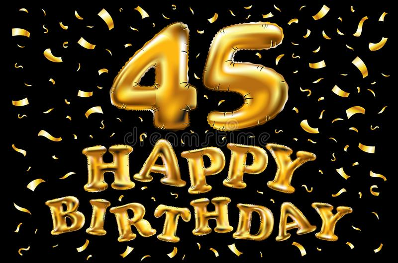 45 лет карточки, знамени Красивое приветствие поцарапало звезды золота слова текста каллиграфии Нарисованный рукой дизайн печати  бесплатная иллюстрация