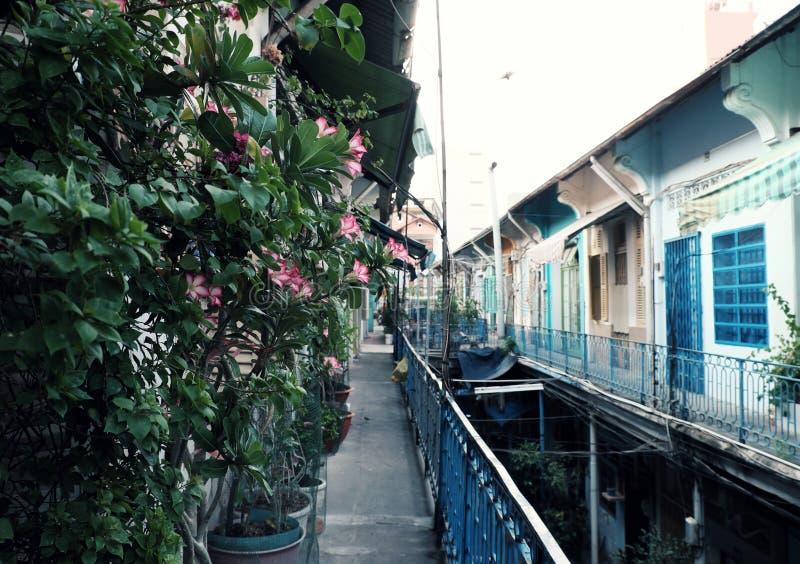 100 лет старого жилого района на городке Китая, старом доме, античной архитектуре, винтажном цвете стоковые изображения rf