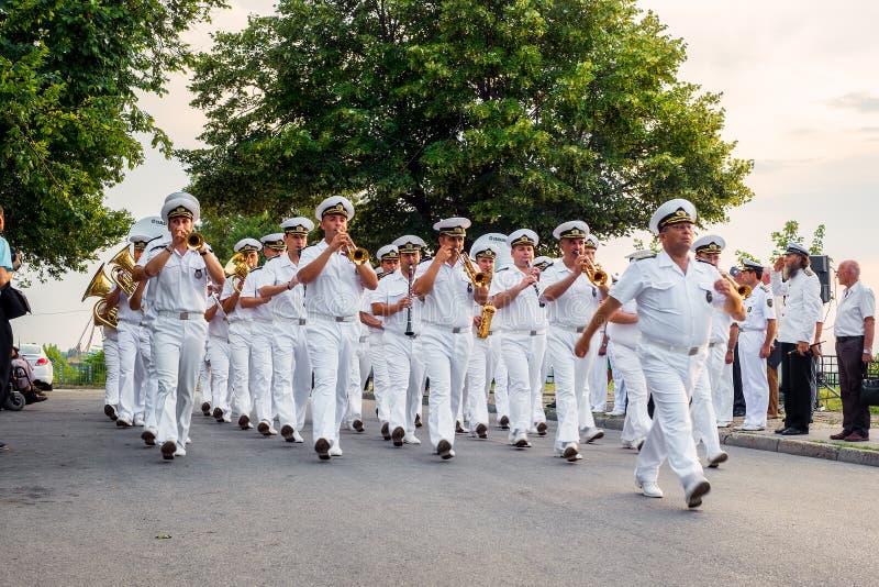 138 лет с творения военно-морского флота в уловке стоковая фотография