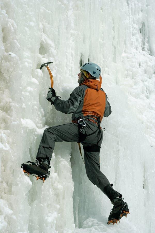 Лед взбираясь северный Кавказ стоковые изображения